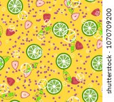 a bright pattern with... | Shutterstock .eps vector #1070709200