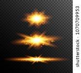 sun beam. magic lgith.... | Shutterstock .eps vector #1070709953