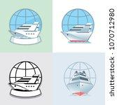 ocean cruise liner emblem ... | Shutterstock .eps vector #1070712980