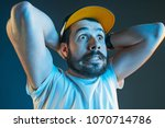 sports  fan human emotions and... | Shutterstock . vector #1070714786