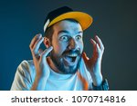 the anger and screaming man.... | Shutterstock . vector #1070714816