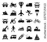 transportation set icon in...