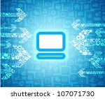 media content arrows going to... | Shutterstock .eps vector #107071730