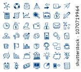 set of hand drawn business... | Shutterstock .eps vector #1070719964