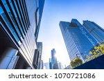 up view of modern office... | Shutterstock . vector #1070721086