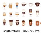 coffee hot and cold cocktails... | Shutterstock .eps vector #1070722496