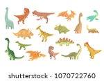 dinosaurs of jurassic period... | Shutterstock .eps vector #1070722760