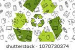 grunge recycle sign with... | Shutterstock .eps vector #1070730374