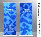 blue roll up business... | Shutterstock .eps vector #1070731154