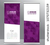 roll up business brochure flyer ... | Shutterstock .eps vector #1070732159