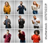group of mixed people  women... | Shutterstock . vector #1070732219