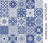 big set of tiles background in... | Shutterstock . vector #1070733290