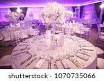 indoor round reception table... | Shutterstock . vector #1070735066