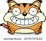 a cartoon lynx cub happy and... | Shutterstock .eps vector #1070737610