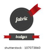 black vector fabric badges with ...