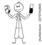 cartoon stick man drawing... | Shutterstock .eps vector #1070742800