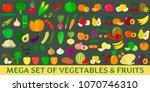 mega set of vegetables and...   Shutterstock . vector #1070746310