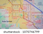 palm springs city on usa map   Shutterstock . vector #1070746799