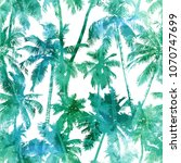 tropical background seamless... | Shutterstock .eps vector #1070747699