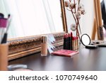 decorative cosmetics on... | Shutterstock . vector #1070749640