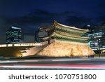 seoul namdaemun gate at night... | Shutterstock . vector #1070751800
