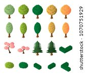 isometric trees and bushes... | Shutterstock .eps vector #1070751929