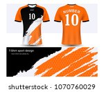 soccer jersey and t shirt sport ... | Shutterstock .eps vector #1070760029