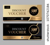 discount voucher template with... | Shutterstock .eps vector #1070762186