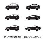 motor vehicle  pickup truck ... | Shutterstock .eps vector #1070762933