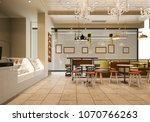 3d rendering loft and luxury... | Shutterstock . vector #1070766263