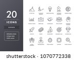 business line icons. money and... | Shutterstock .eps vector #1070772338
