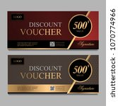 discount voucher template with... | Shutterstock .eps vector #1070774966