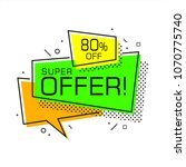 flat shaped sale banner  price... | Shutterstock .eps vector #1070775740