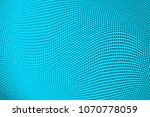 blue black halftone pattern.... | Shutterstock .eps vector #1070778059