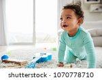 happy mixed race toddler boy... | Shutterstock . vector #1070778710
