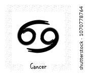 cancer vector zodiac sign  hand ... | Shutterstock .eps vector #1070778764