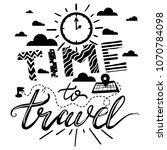 time to travel lettering poster.... | Shutterstock .eps vector #1070784098