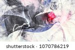 beautiful grey painting pattern.... | Shutterstock . vector #1070786219
