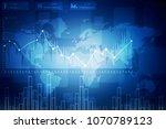 2d rendering stock market... | Shutterstock . vector #1070789123