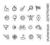 sport icon vector | Shutterstock .eps vector #1070792480