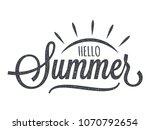 hello summer vintage lettering...   Shutterstock .eps vector #1070792654