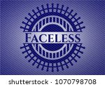 faceless with jean texture | Shutterstock .eps vector #1070798708