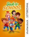 back to school flyer | Shutterstock .eps vector #1070805446