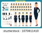 woman character creation set.... | Shutterstock .eps vector #1070811410