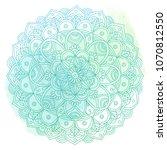 hand drawn mandala on a...   Shutterstock . vector #1070812550