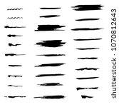 set of brushes  raster copy | Shutterstock . vector #1070812643