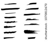 set of brushes   Shutterstock . vector #1070812670