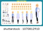 scientist character creation... | Shutterstock .eps vector #1070812910