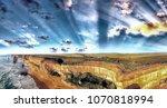 amazing sunset scenario of...   Shutterstock . vector #1070818994