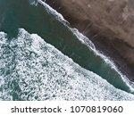 An Overhead View Of Ocean Wave...